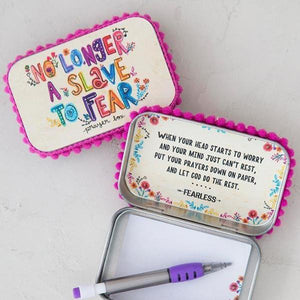 Natural Life Prayer Box | No Longer a Slave to Fear