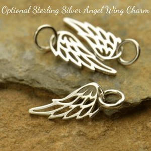 Optional Sterling Silver Angel Wing Charm