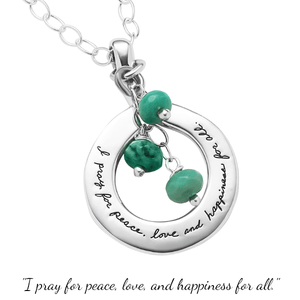 Sterling Silver Prayer Necklace | Pray for Peace | BB Becker