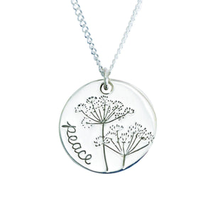 Sterling Silver Peace of Christ Necklace | Colossians 3:15