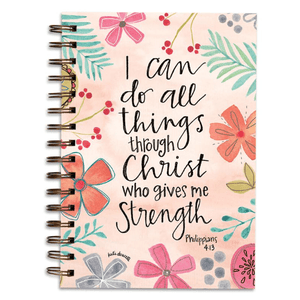 Christian Gratitude Journal | I Can Do All Things Through Christ | Philippians 4:13