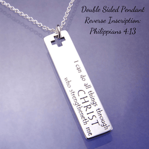 I Can Do All Things Through Christ Sterling Silver Necklace | Philippians 4:13