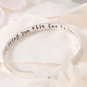 Planted in Faith Sterling Silver Engraved Cuff Bracelet