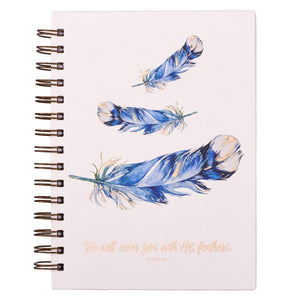 Christian Gratitude Journal | He Will Cover You With His Feathers | Psalm 91:4