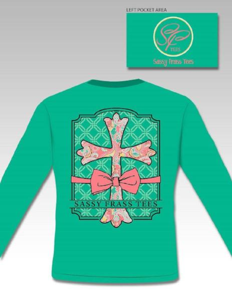 SassyFrass Long Sleeve Christian T-Shirt | Comfort Colors | Raegan Cross | Comfort Colors