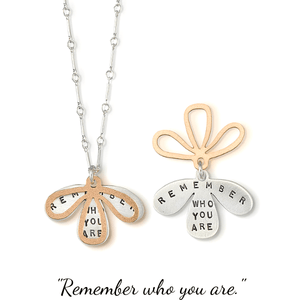 Remember Who You Are Sterling Silver Necklace | Kathy Bransfield