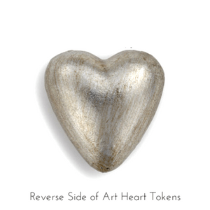 Reverse Side of Art Heart Tokens