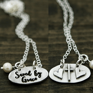 The Vintage Pearl Necklace | Saved by Grace | Double Sided