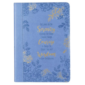 LuxLeather Embossed Serenity Courage Wisdom Journal
