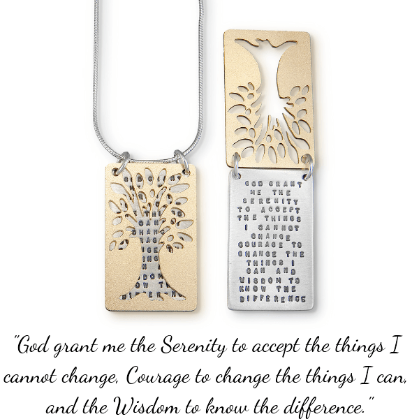 Sterling Silver Serenity Prayer Necklace | Tree of Serenity | Kathy Bransfield