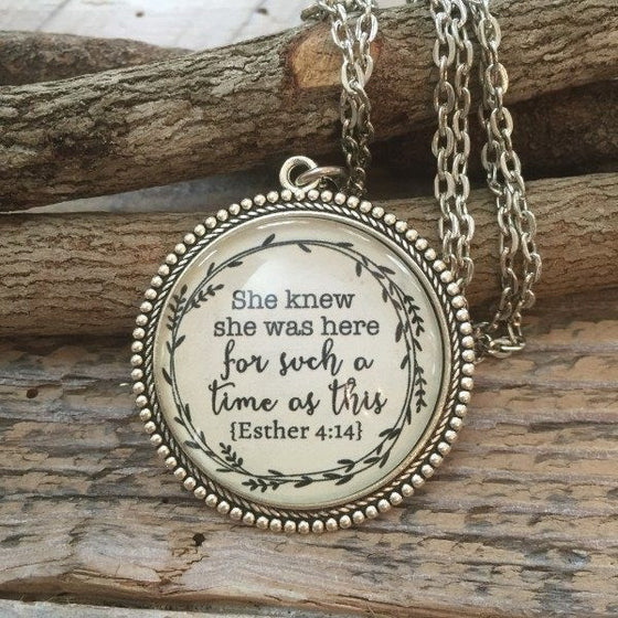She Knew She Was Here For Such A Time As This Necklace | Esther 4:14 | Never Lose Hope