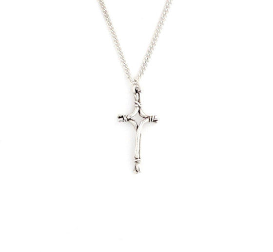 Sterling Silver Twigs Cross