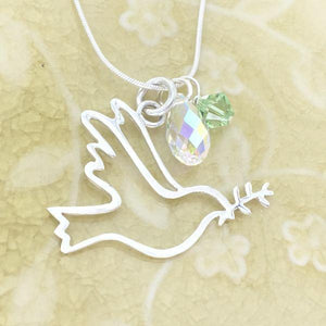 Sterling Silver Dove of Peace Necklace
