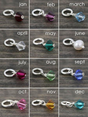 Swarovski Crystal Birthstone Charm | Personalized Add On Charm