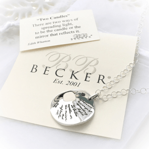 There are Two Ways of Spreading Light Sterling Silver Necklace | BB Becker