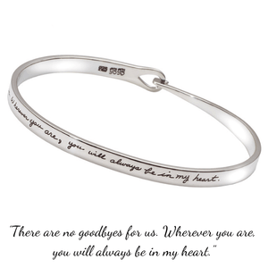 You Will Always Be in My Heart Sterling Silver Bracelet | BB Becker