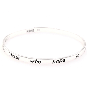 Isaiah 40:31 Sterling Silver Bangle Bracelet | Those Who Hope in the Lord
