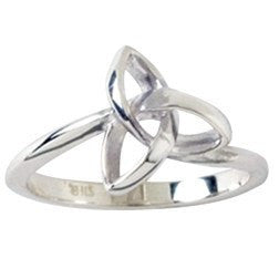 Sterling Silver Ladies Triquetra Ring - Clothed with Truth