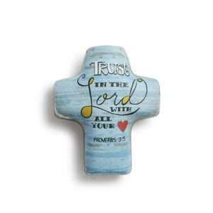 Trust in the Lord Artful Cross Pocket Token | Proverbs 3:5
