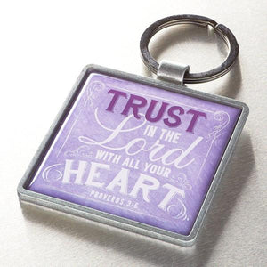 """Trust in the Lord"" Scripture Verse Keyring 