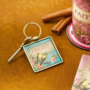 Proverbs 3:5 Keychain | Trust in the Lord | Golden Finches