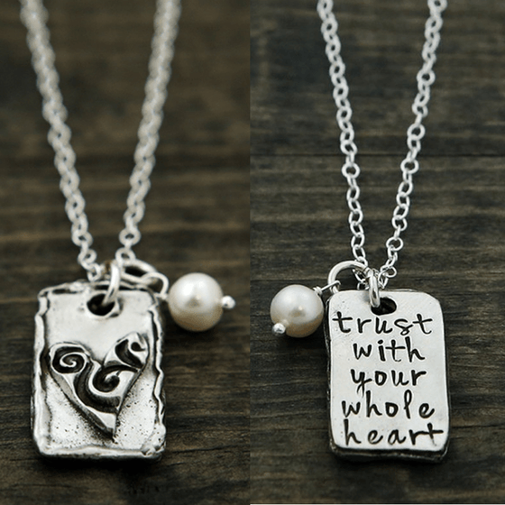 The Vintage Pearl Necklace | Trust With Your Whole Heart | Double Sided