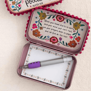 Scripture Prayer Box | With God All Things Are Possible | Natural Life