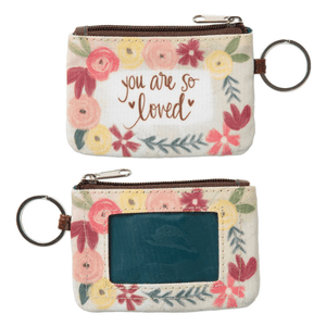 You Are So Loved ID Wallet Coin Purse Keychain