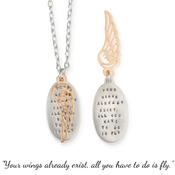 Your Wings Already Exist Sterling Silver Necklace | Kathy Bransfield