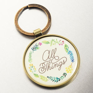 Scripture Verse Keychain | With God All Things are Possible | Matthew 19:26