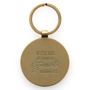 Scripture Verse Keyring | With God All Things are Possible | Matthew 19:26