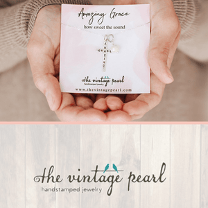 Amazing Grace Sterling Silver Cross Necklace | The Vintage Pearl