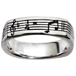 Sterling Silver Men's Christian Ring - Amazing Grace