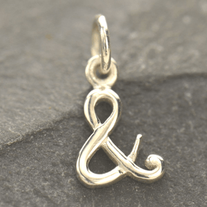 Sterling Silver Initial Charms | Script Alphabet Letter Charm