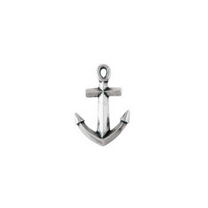 Fine Pewter Christian Lapel Pin | Anchor Cross