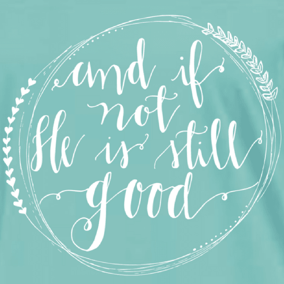 And If Not He Is Still Good Christian T-Shirt | 3/4 Length Jersey Sleeve