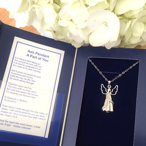 Sterling Silver Ash Holder Necklace | Heavenly Angel | Cremation Jewelry