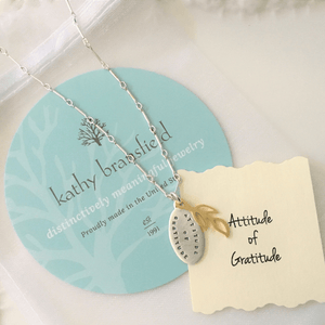 Attitude of Gratitude Sterling Silver Necklace | Kathy Bransfield