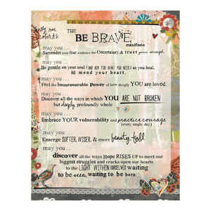 Kelly Rae Roberts Be Brave Manifesto Matted Print | Artist Signed