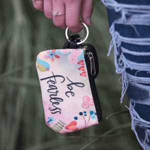 Be Fearless Coin Purse ID Wallet Keychain