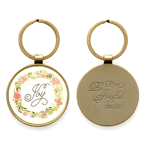 Be Joyful Keychain | Romans 12:12 Keychain