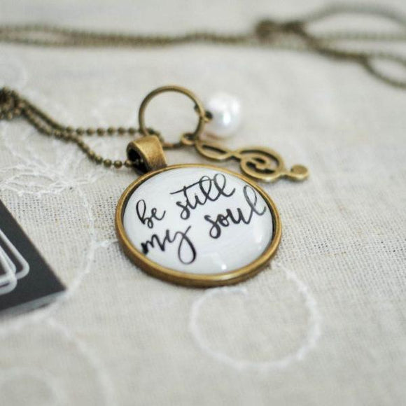 Christian Hymn Necklace | Be Still My Soul