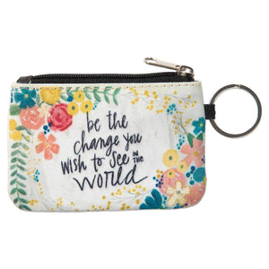 ID Wallet Keychain | Be the Change You Wish to See in the World