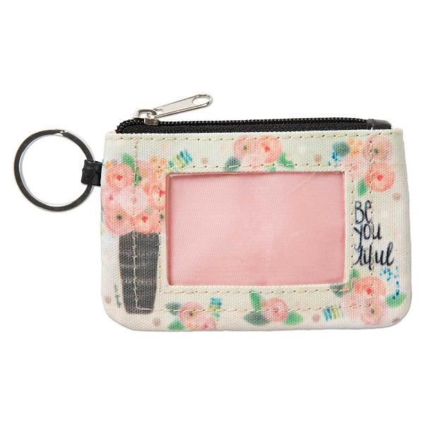 b52734f326ce Be You-ti-ful | Handy Zippered ID Wallet and Keychain Combination ...