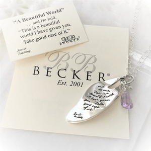 BB Becker Sterling Silver Leaf Pendant Necklace | A Beautiful World