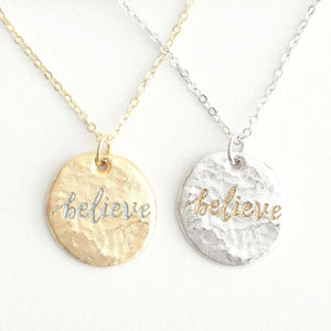 Believe (In) Courage Friendship Necklace Set | Wear One Share One | Romans 8:28