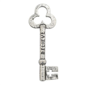 Fine Pewter Believe Key Pocket Token