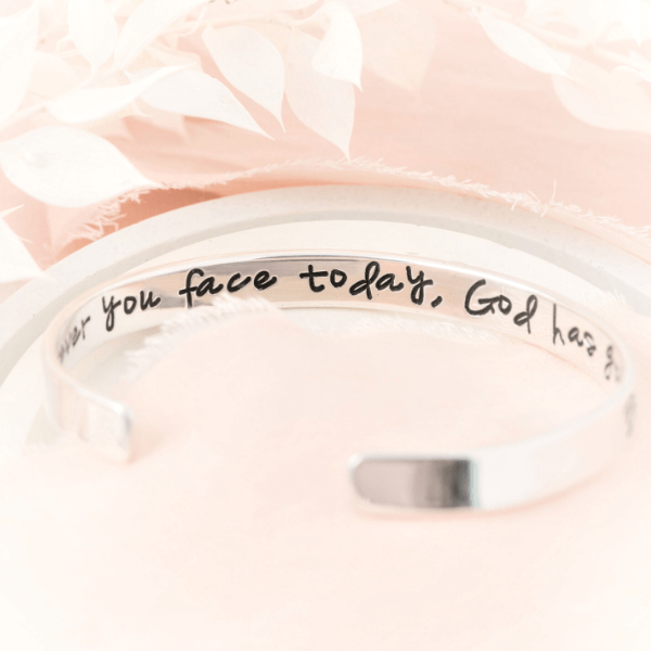 Be Still and Know that I am God Sterling Silver Engraved Cuff Bracelet | Psalm 46:10
