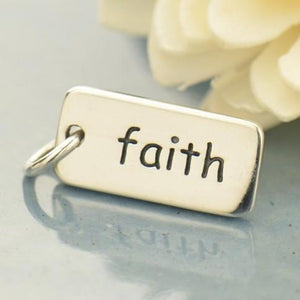 Faith Sterling Silver Word Charms