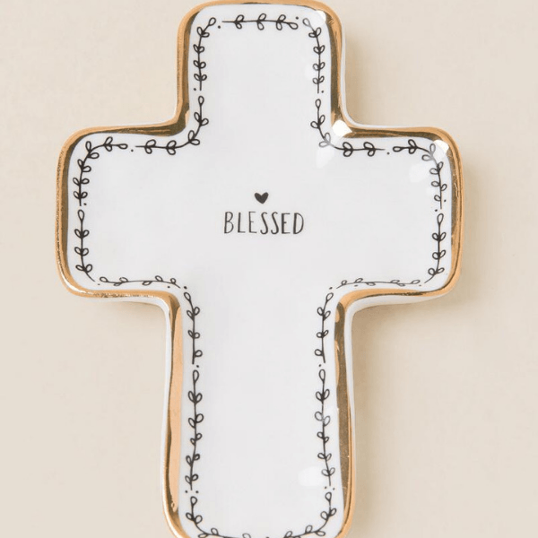 Blessed Cross Calypso Trinket Dish | Natural Life